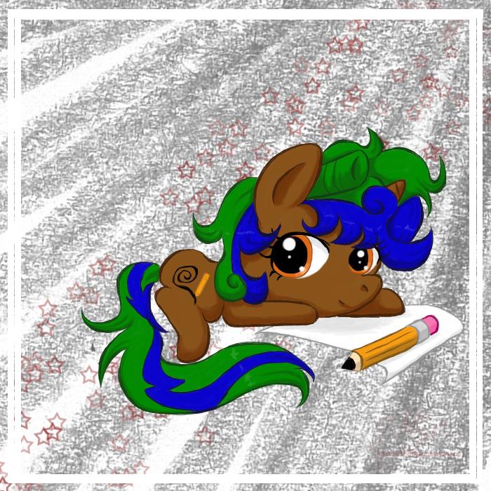 MLP: OC Chibi Scribble -color- by mscherbear