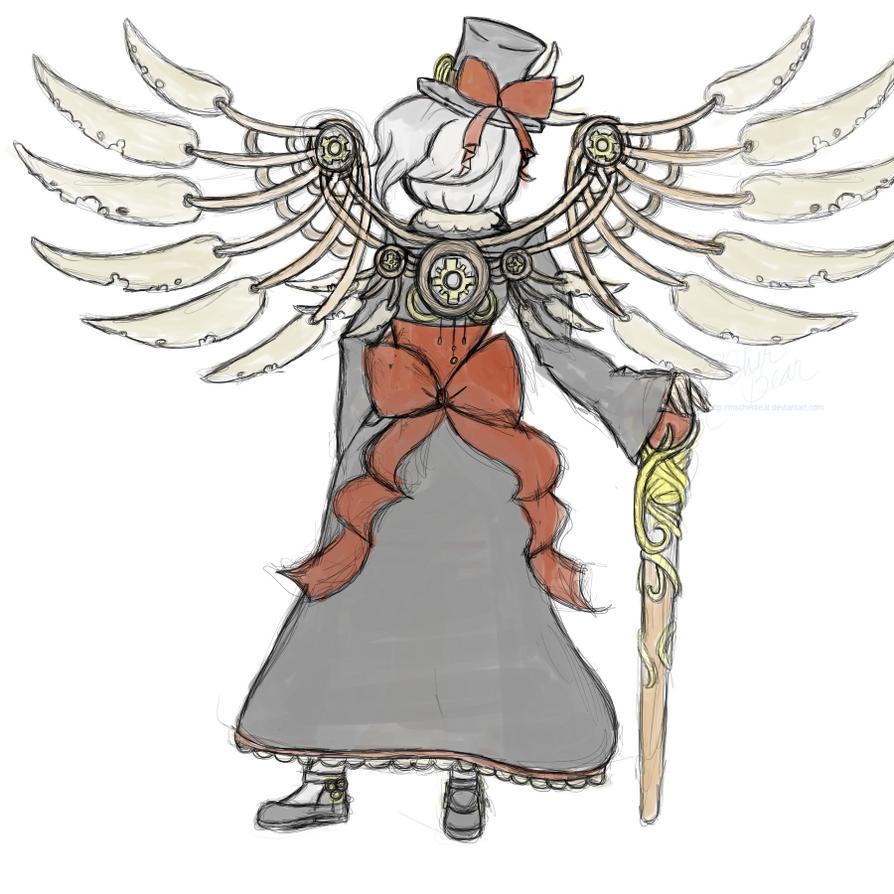 Audi: Steampunk Contest Outfit -back- by mscherbear