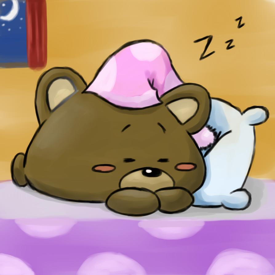 Random: Sleepy Bear by mscherbear