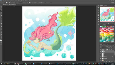 Random: Mermaid pt4 -Preview- by mscherbear