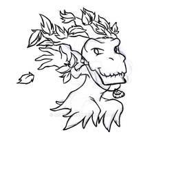 WoW: Chibi Tarta Druid Treant Form pt5 -Sketch-