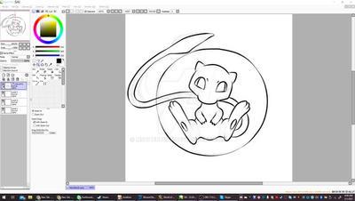 Fan Art: Pokemon - Mew [ WIP ]