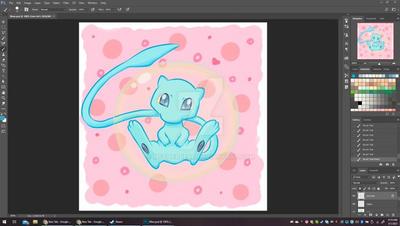 Fan Art: Pokemon - Mew [ WIP pt2 ]