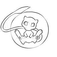Fan Art: Pokemon - Mew [ Sketch ]