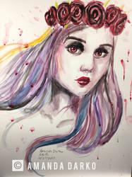 Depression: a self portrait by AmandaDarko