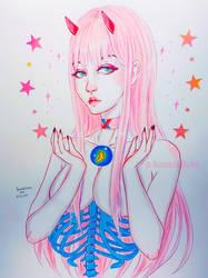 Zero Two by AmandaDarko