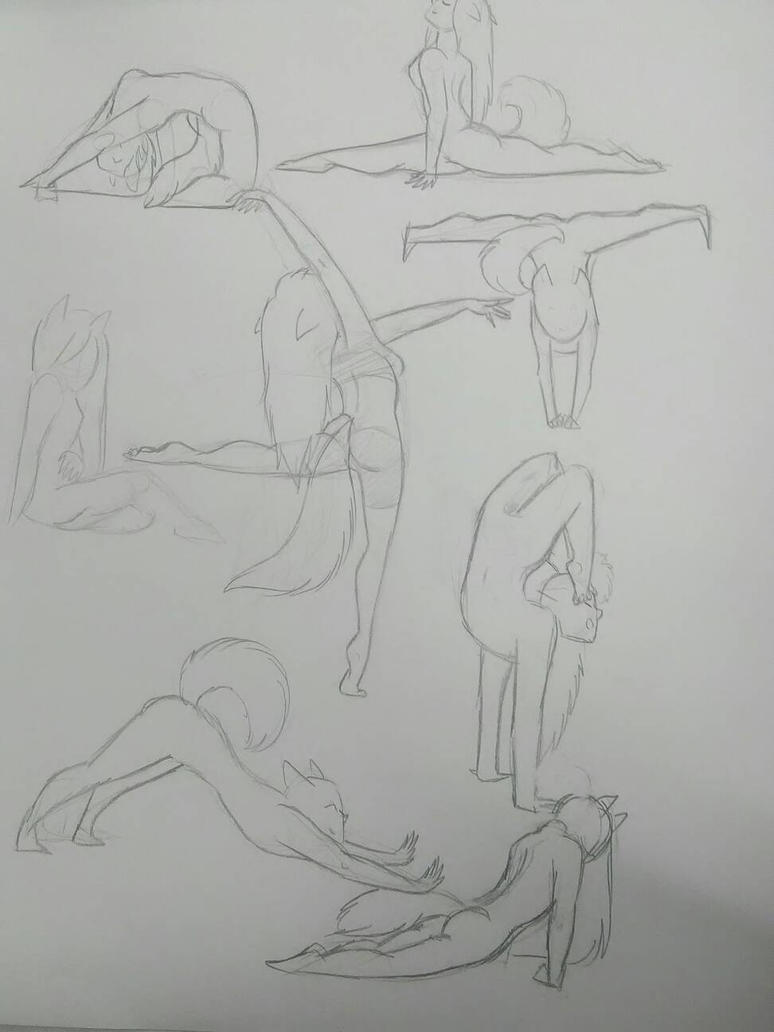 Pose sketches by MadameMG
