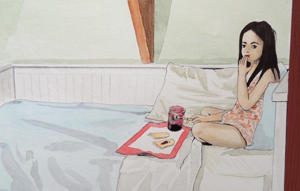 petit dej 39 au lit by giulia themadhatter on deviantart. Black Bedroom Furniture Sets. Home Design Ideas