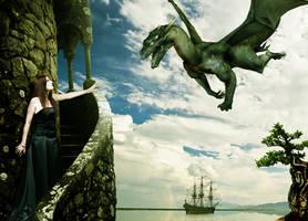 Dragon and princess by misha167
