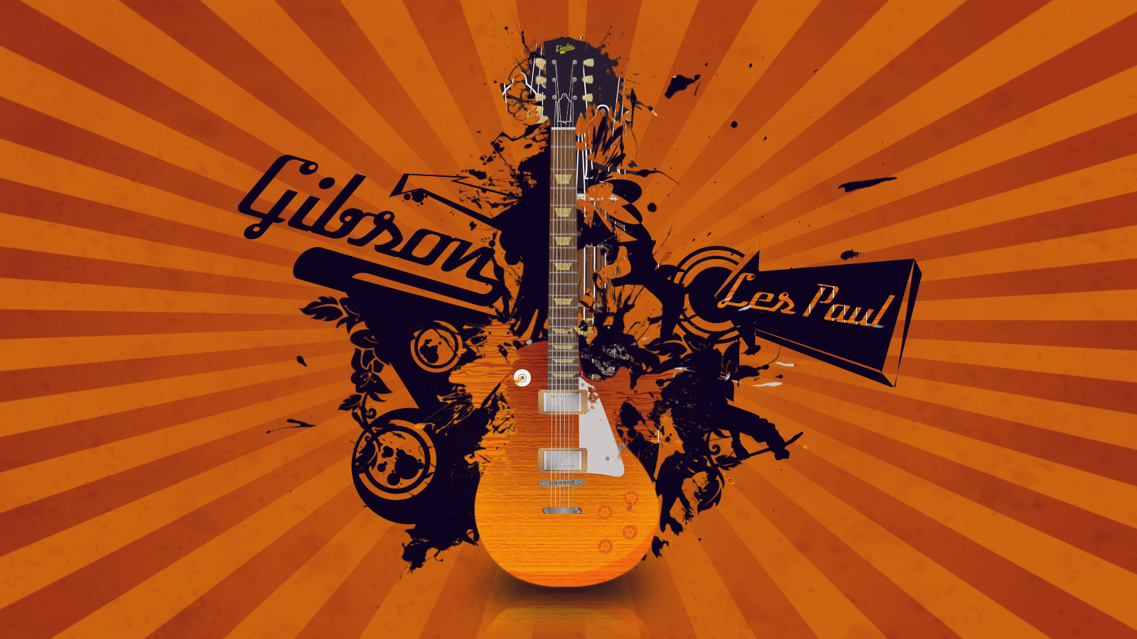 Gibson Les Paul Wallpaper by blackcan1122 on deviantART