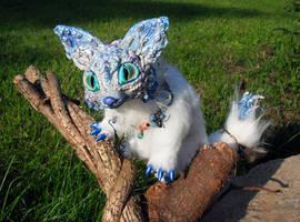 Posable Ice Fox Goddess by MaryBunnie