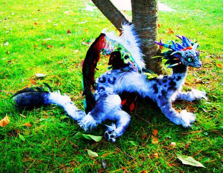Leopard Dragon Posable Doll- 5 feet