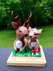 Deer Wedding Cake Topper by MaryBunnie