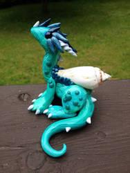 Seafoam Dragon Sculpture