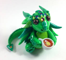 Green Tea Dragon Sculpture by MaryBunnie