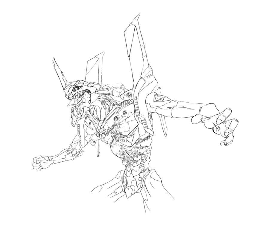 Line Art Unit : Eva unit line art by r ll on deviantart