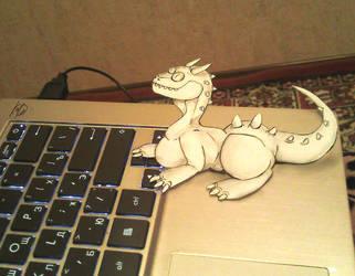 Dragon and computer by KogotsuchiDark