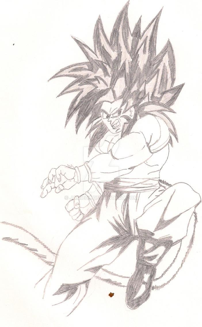 SS4 Goku by jamiedl
