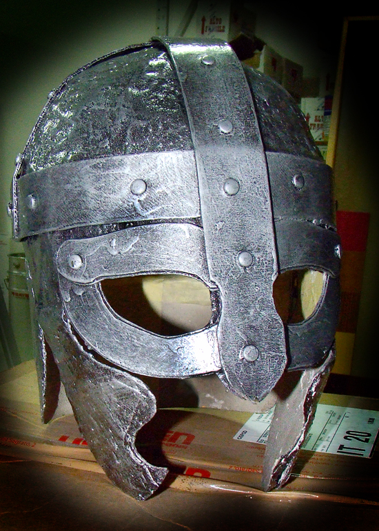 Paper mache helmet by robertgrima on deviantart for Paper knight helmet template