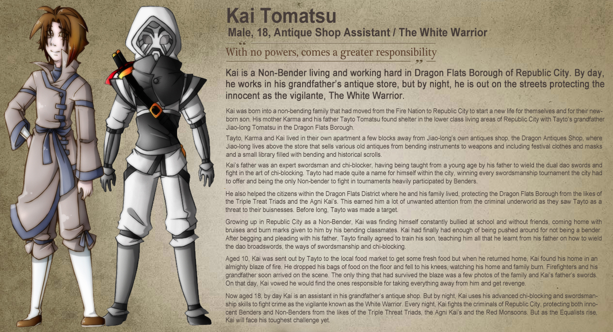 Legend Of Korra OC Profile By TheRonAndOnly