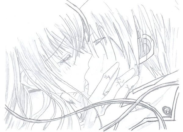 Cute anime couple by hiddenleafvillagee on deviantart for Cute anime couples coloring pages