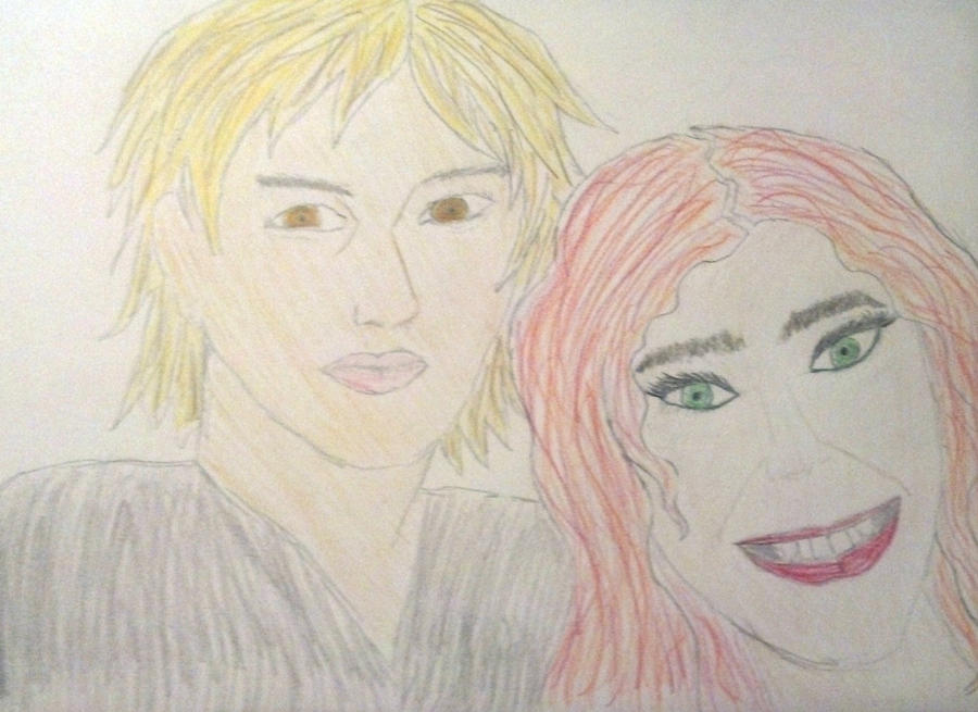 Awful Drawing Of Clary Photo Bombing Jace By Livinese On
