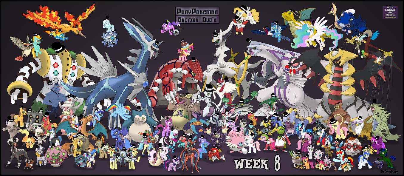 Week 8 'The calm' Pony Pokemon Duo Go British! by DrLonePony