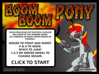 Boom Boom Pony by DrLonePony