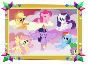Mane 6 and Spike Picture - Castle Sweet Castle
