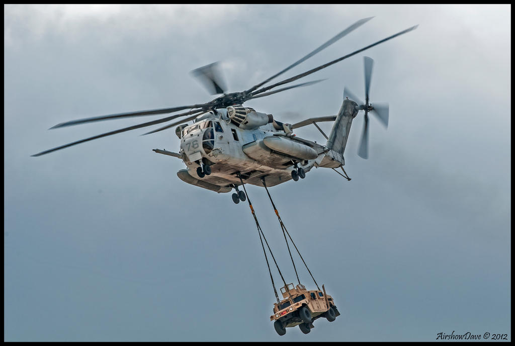 MAGTF CH-53E and Hummer by AirshowDave