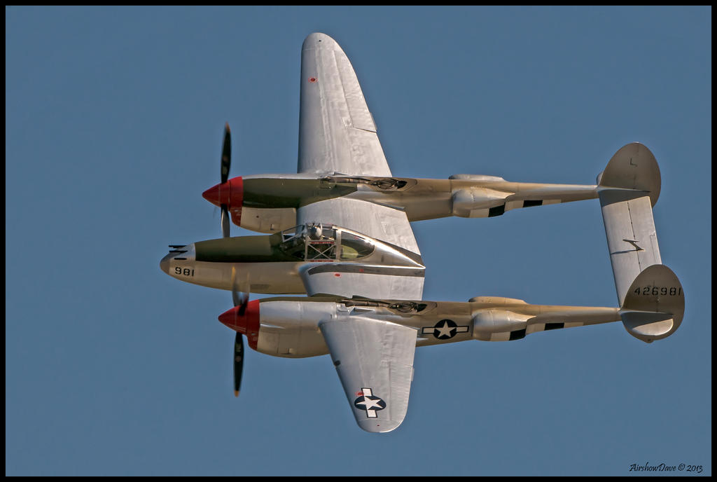 P-38 Lightning Planes of Fame 2012 by AirshowDave