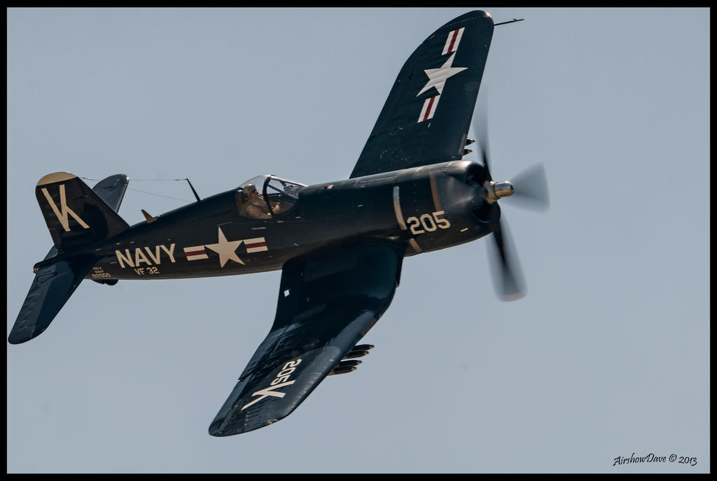 Planes of Fame 2013 F4U Corsair by AirshowDave