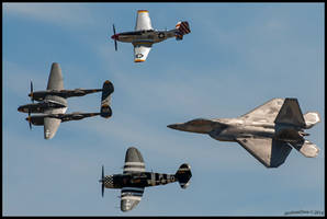 Planes of Fame Hertiage 2014 by AirshowDave