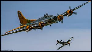 B-17 and Little Friend II