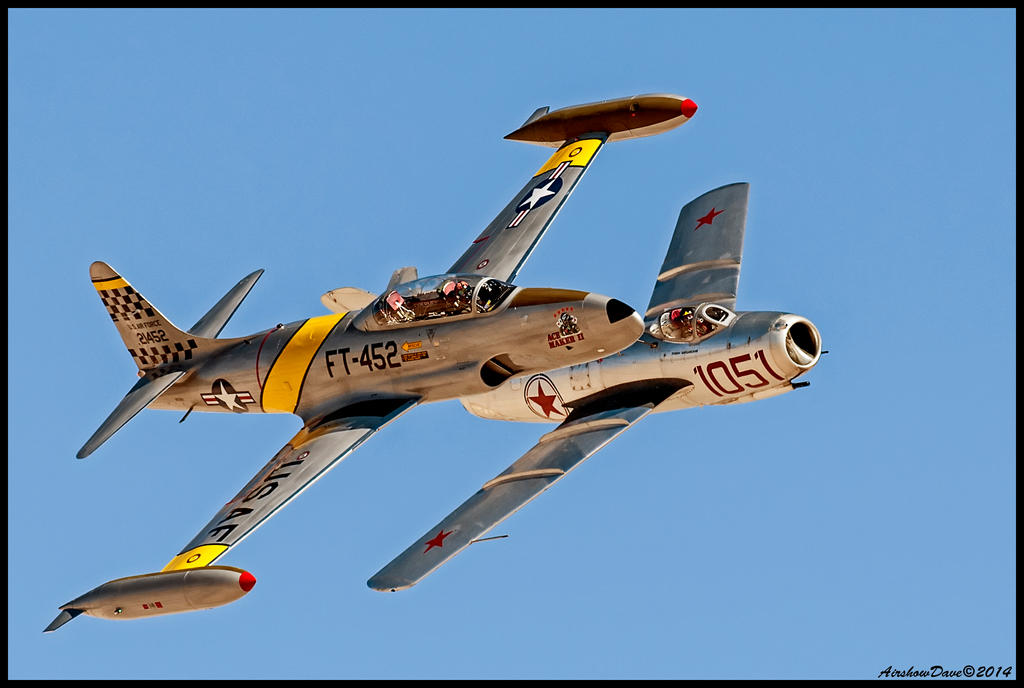 T-33  Mig 15 by AirshowDave