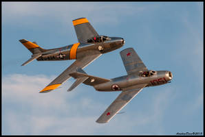 F-86 Sabre - Mig 15 Twilight Show II by AirshowDave