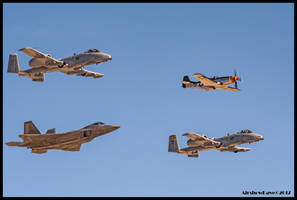 Heritage Flight 2017 Aviation Nation by AirshowDave