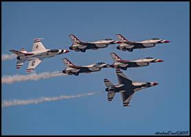 Thunderbirds Break by AirshowDave
