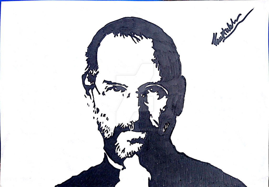 Steve jobs sketch by kaustubh1605