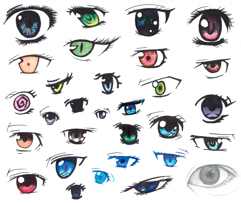 Anime Eye Collage by diamondbubble on DeviantArt