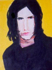 Old Painting of Trent Reznor by opiumpoppy