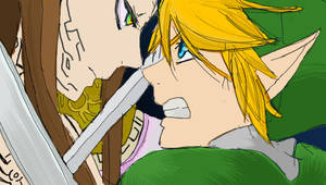 Ganon's Puppet Zelda vs Link by Kimmyu98