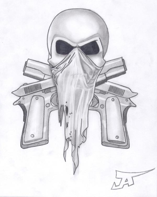 skull and guns 2 by altsy on DeviantArt
