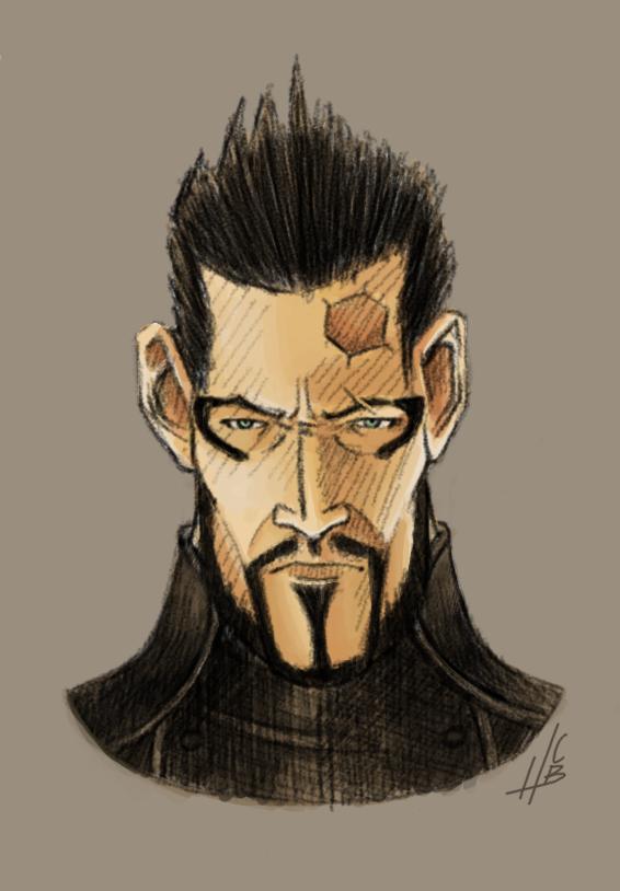 Deus Ex: Adam Jensen Caricature by Hnser
