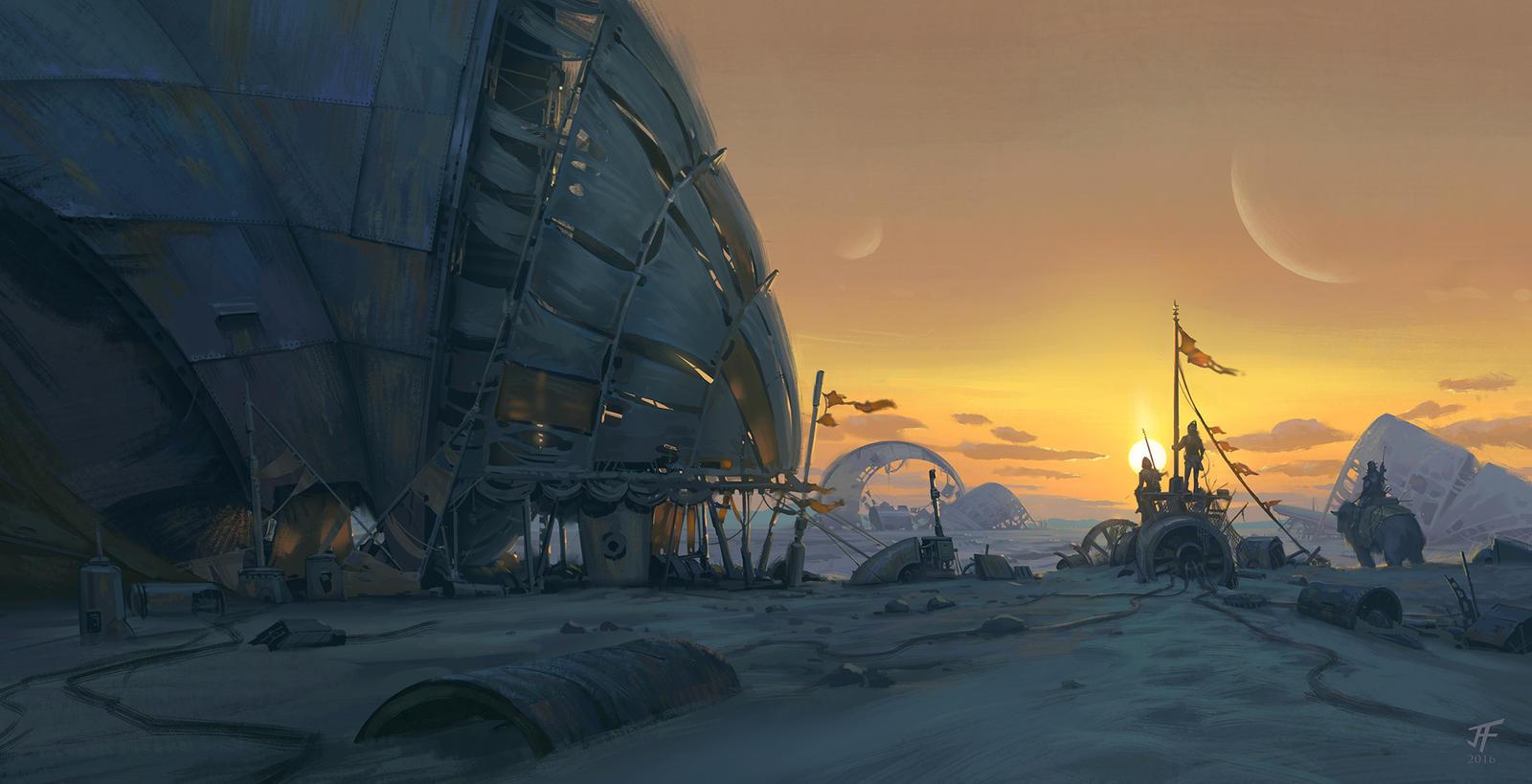 Desert Camp by JeremyFenske