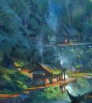 Village Falls detail