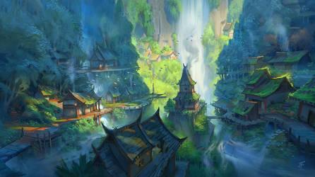 Village Falls by JeremyFenske