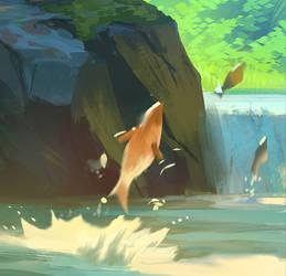Jungle Fisher boy detail
