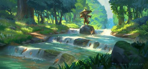 Jungle Fisher boy by JeremyFenske