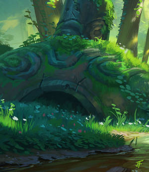 Link and the Forest Temple detail 2